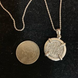 Jewelry - Atocha silver coin necklace